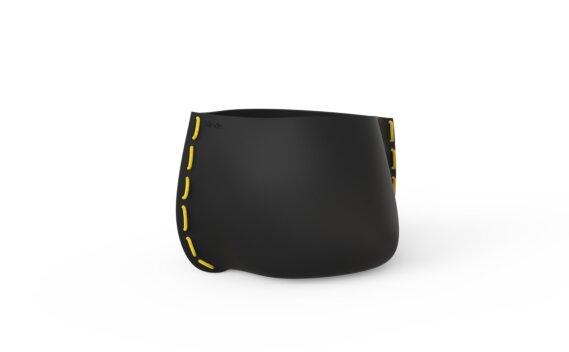 Stitch 50 Planter - Graphite / Yellow by Blinde Design
