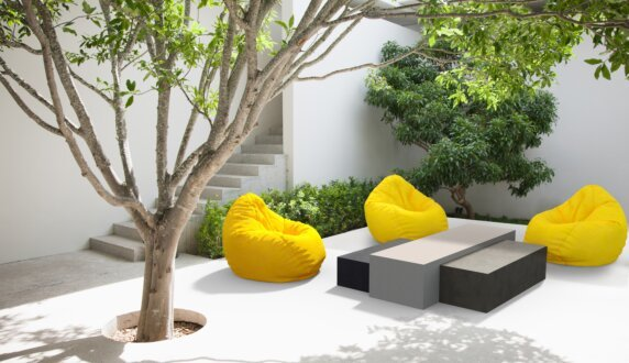 Outdoor setting - Bloc L1 Coffee Table by Blinde Design