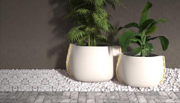 Stitch Plant Pot Collection - Stitch 125 Planter by Blinde Design