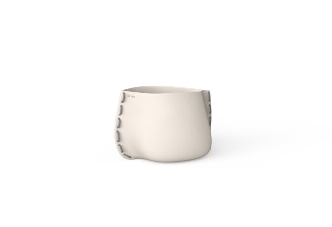 Stitch 25 Planter - Bone / Grey by Blinde Design