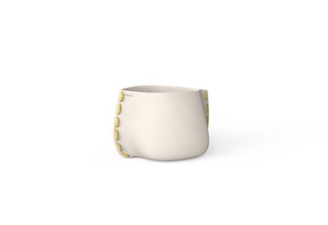 Stitch 25 Planter - Bone / Yellow by Blinde Design
