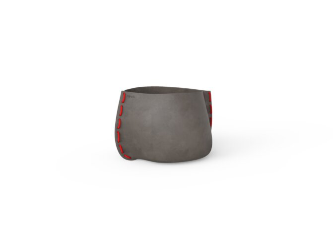Stitch 25 Planter - Ethanol / Natural / Red by Blinde Design