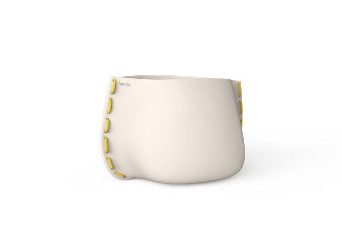 Stitch 75 Planter - Ethanol / Bone / Yellow by Blinde Design