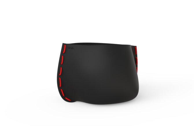 Stitch 75 Planter - Ethanol / Graphite / Red by Blinde Design